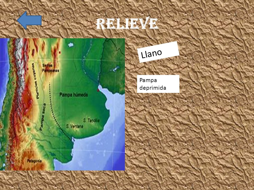 Relieve Llano Pampa deprimida