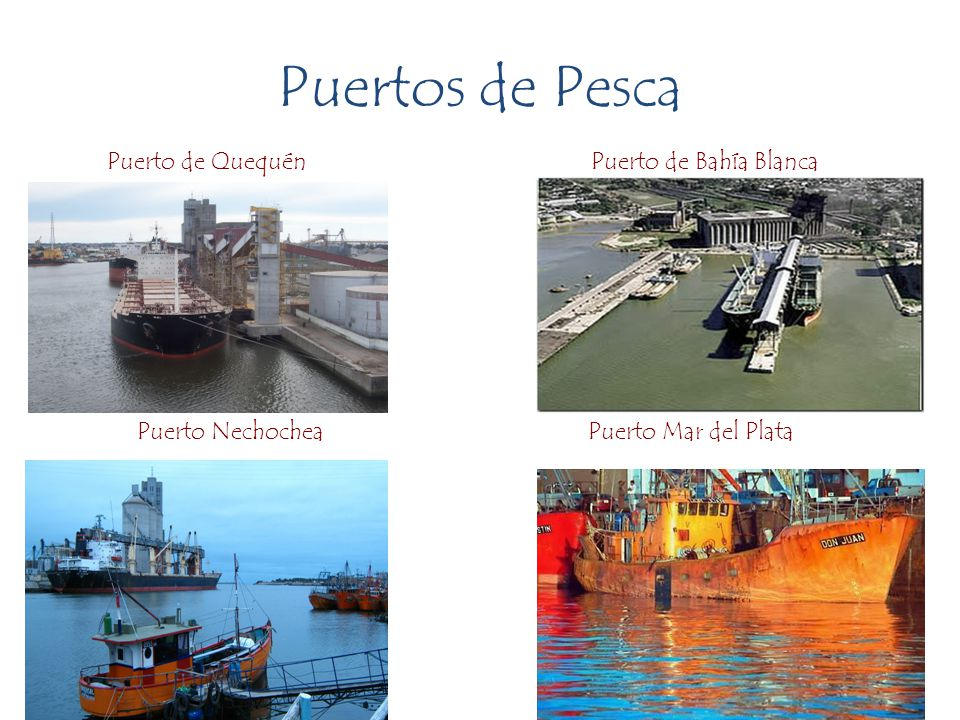 Puertos de Pesca Puerto de Quequén Puerto de Bahía Blanca