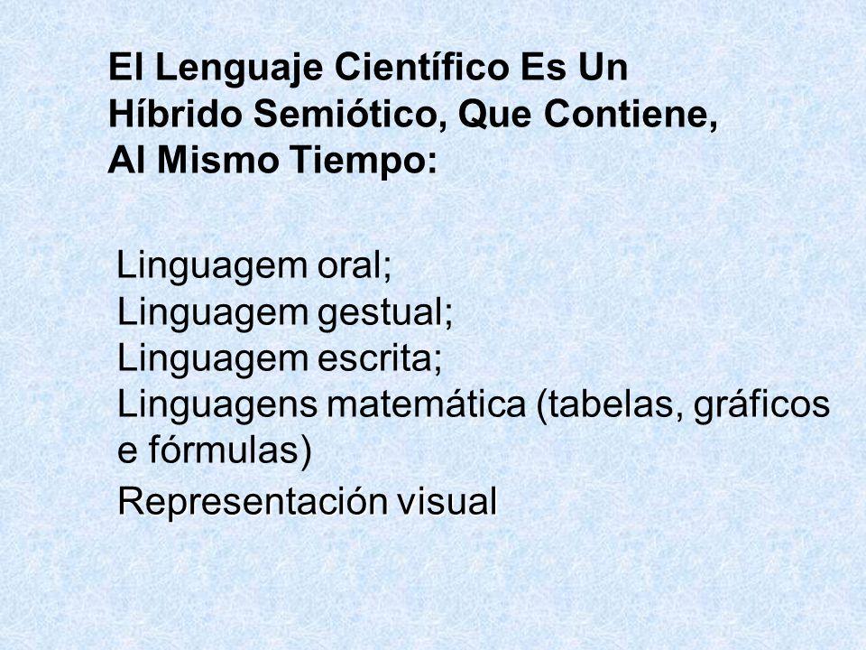 El Lenguaje Científico Es Un Híbrido Semiótico, Que Contiene, Al Mismo Tiempo: