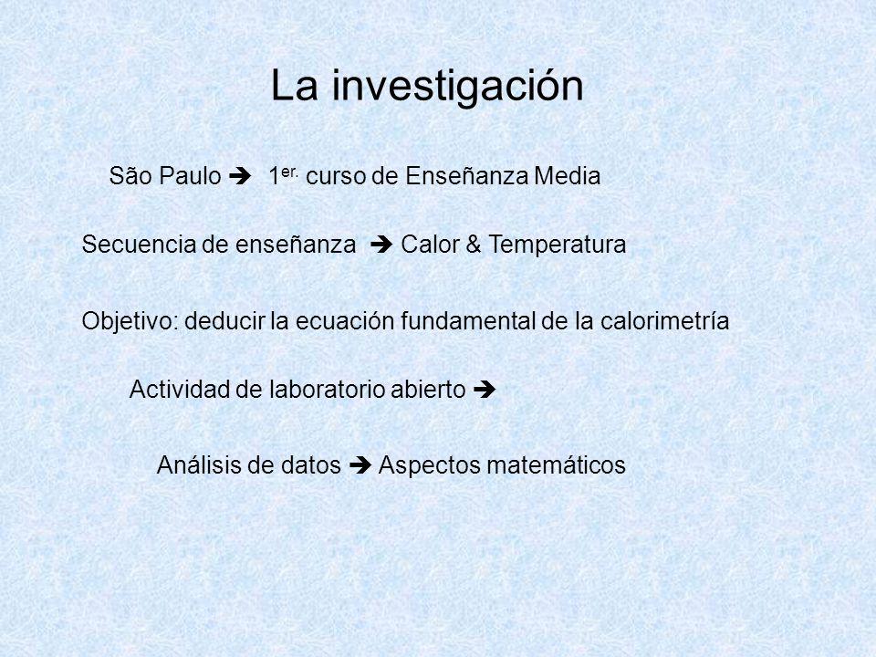La investigación São Paulo  1er. curso de Enseñanza Media