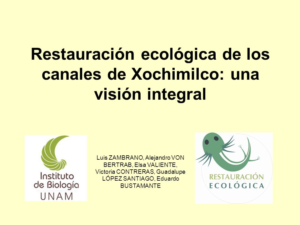 Restauración ecológica de los canales de Xochimilco: una visión integral