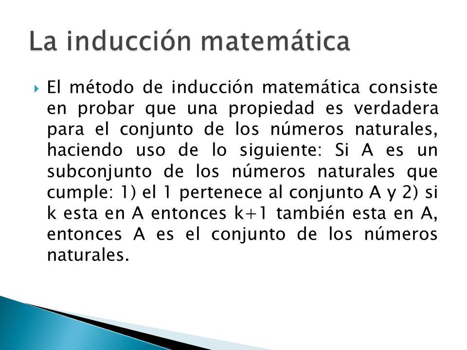 La inducción matemática