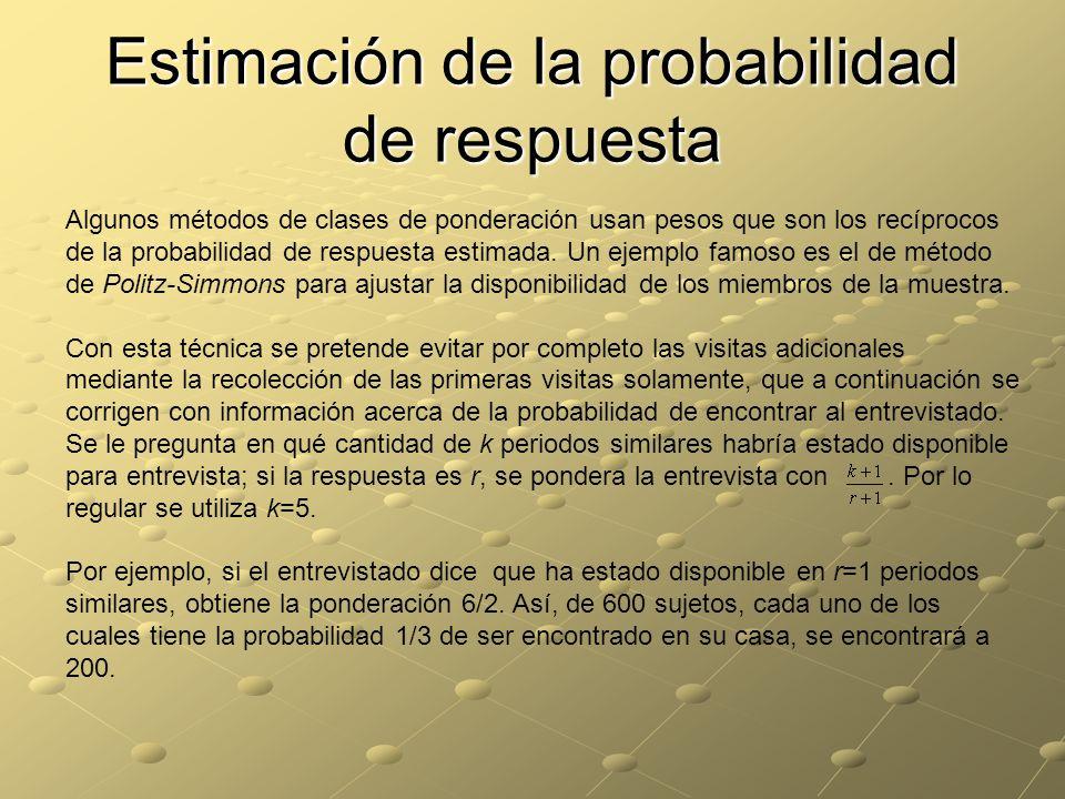 Estimación de la probabilidad de respuesta