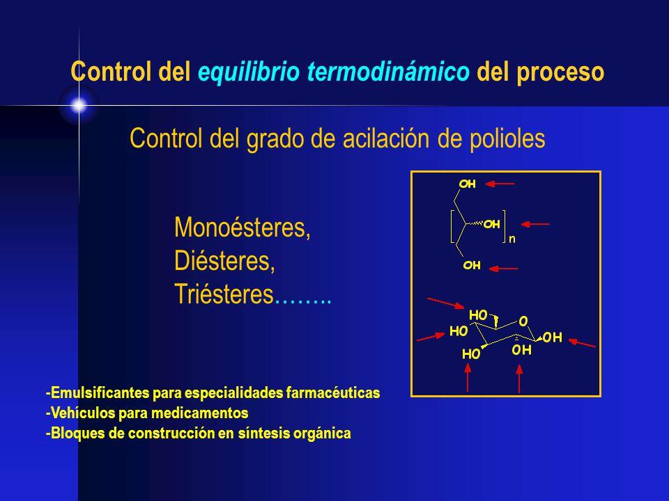 Control del equilibrio termodinámico del proceso