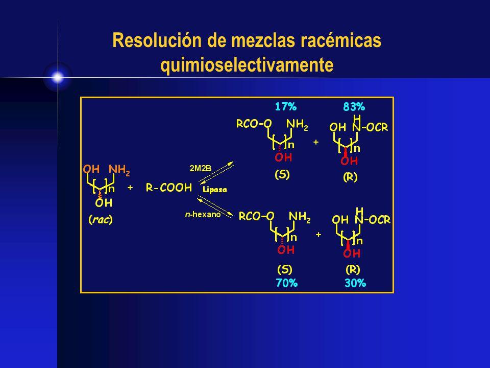 Resolución de mezclas racémicas quimioselectivamente
