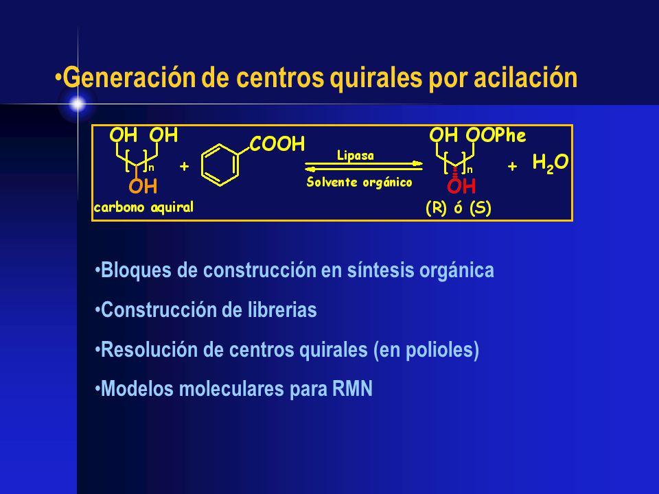 Generación de centros quirales por acilación