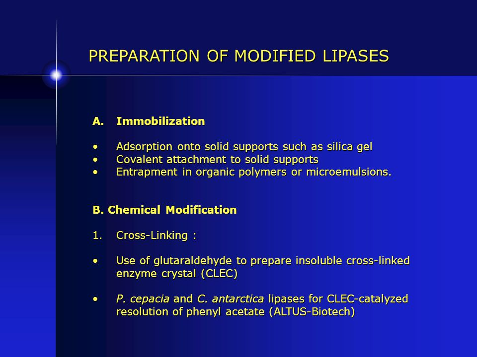 PREPARATION OF MODIFIED LIPASES