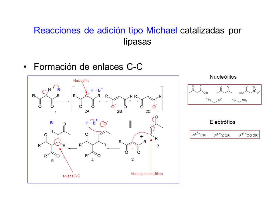 Reacciones de adición tipo Michael catalizadas por lipasas