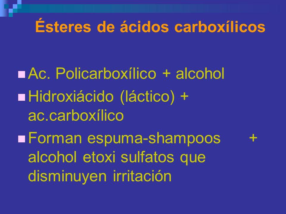 Ésteres de ácidos carboxílicos