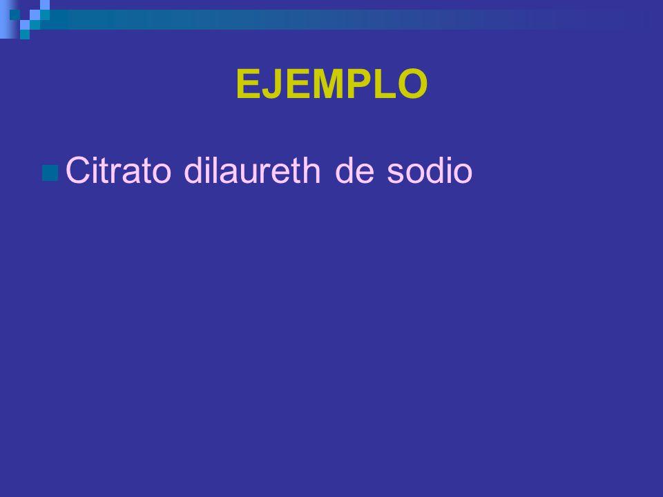 EJEMPLO Citrato dilaureth de sodio