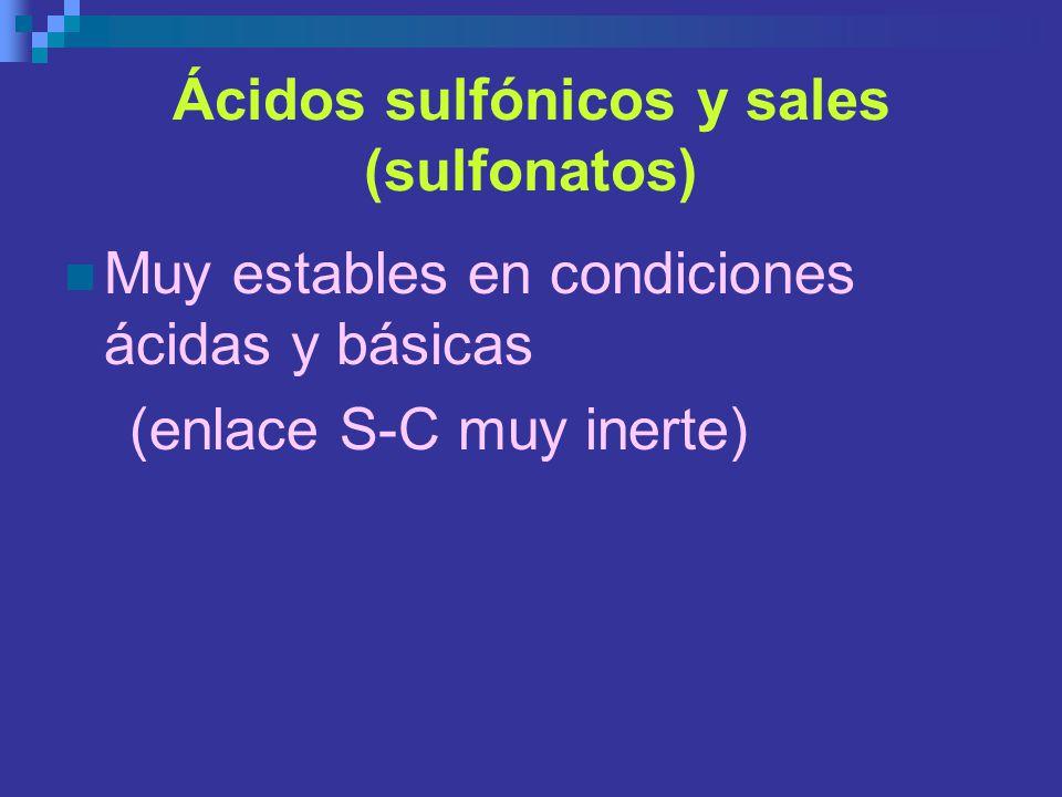 Ácidos sulfónicos y sales (sulfonatos)