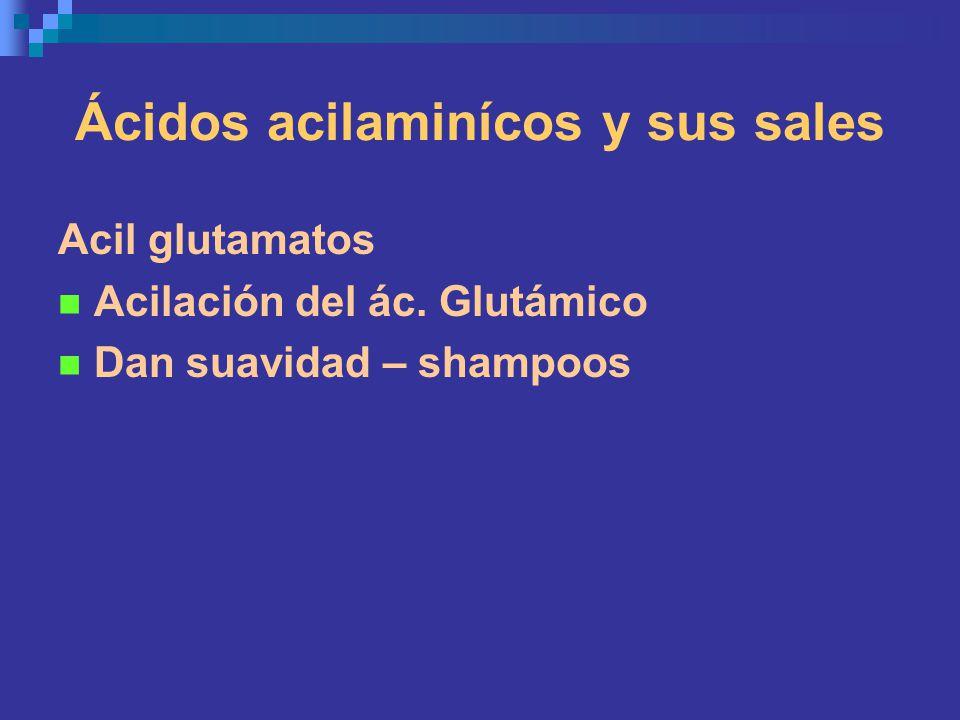 Ácidos acilaminícos y sus sales