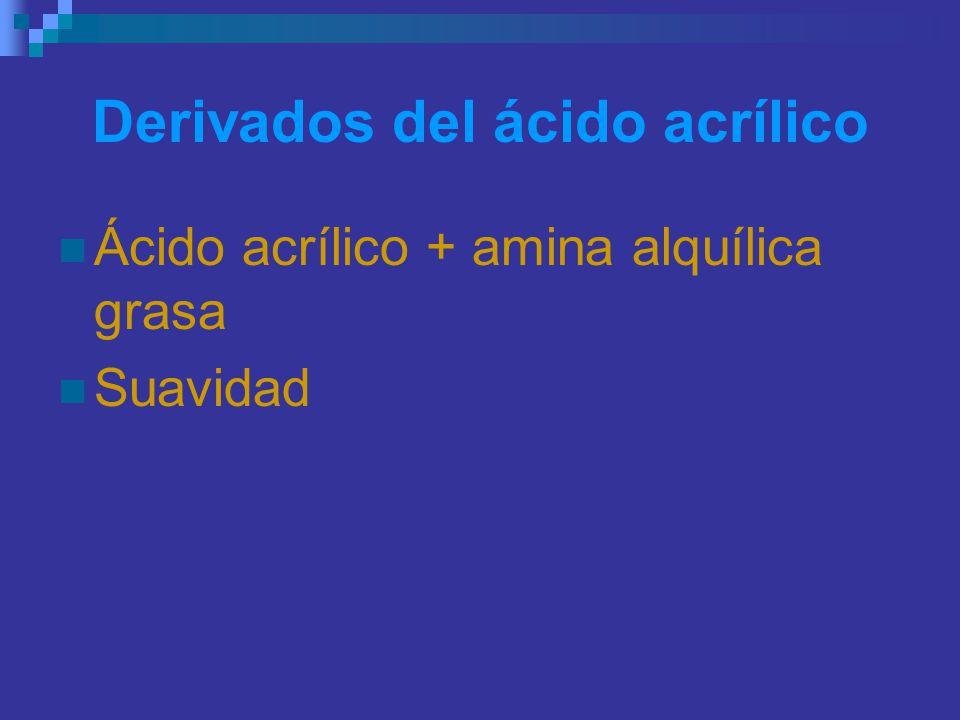 Derivados del ácido acrílico
