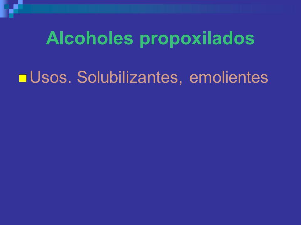 Alcoholes propoxilados