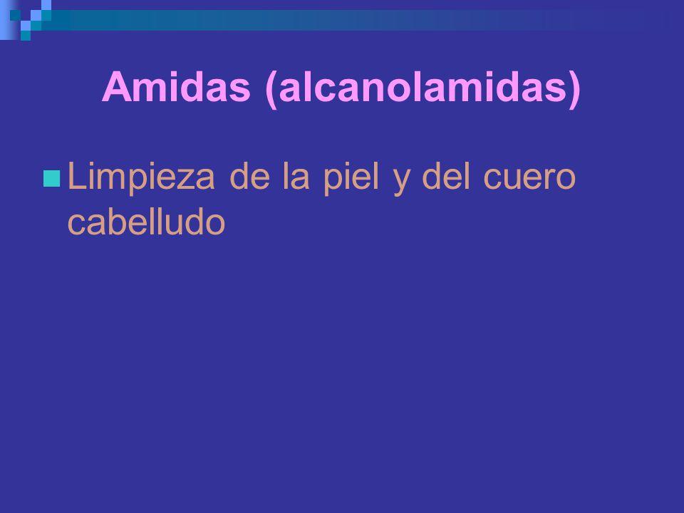 Amidas (alcanolamidas)