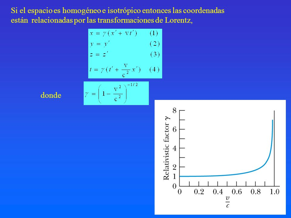 Si el espacio es homogéneo e isotrópico entonces las coordenadas
