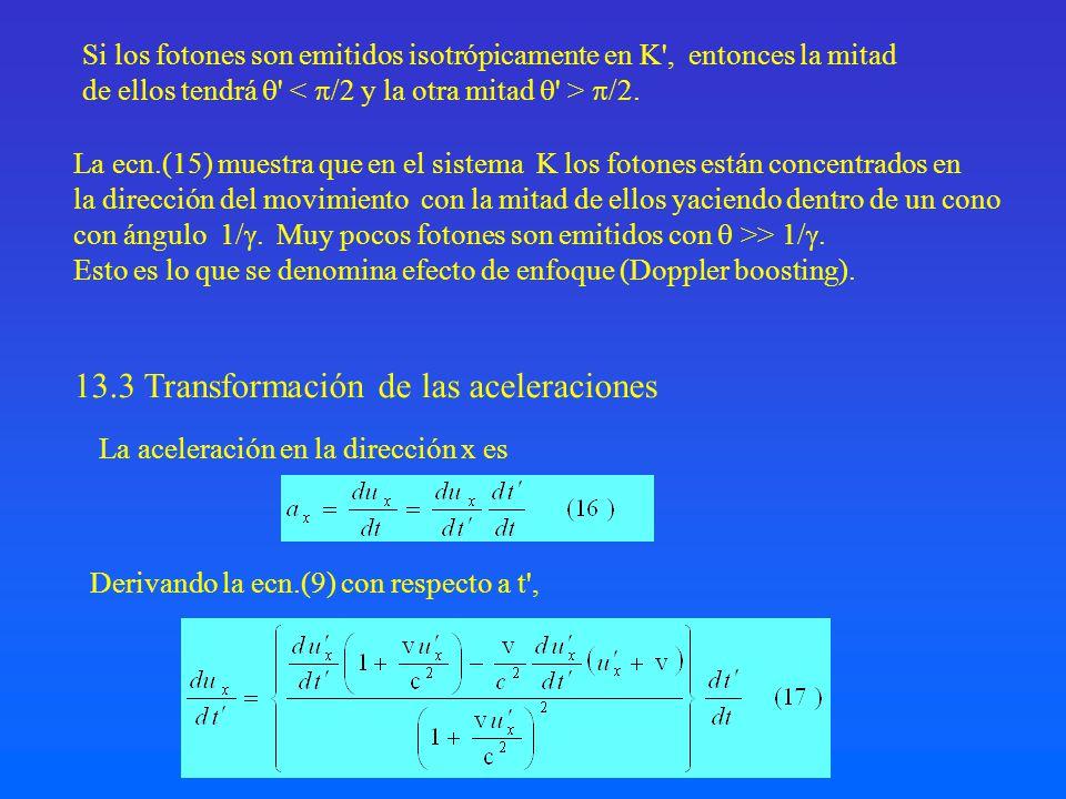 13.3 Transformación de las aceleraciones