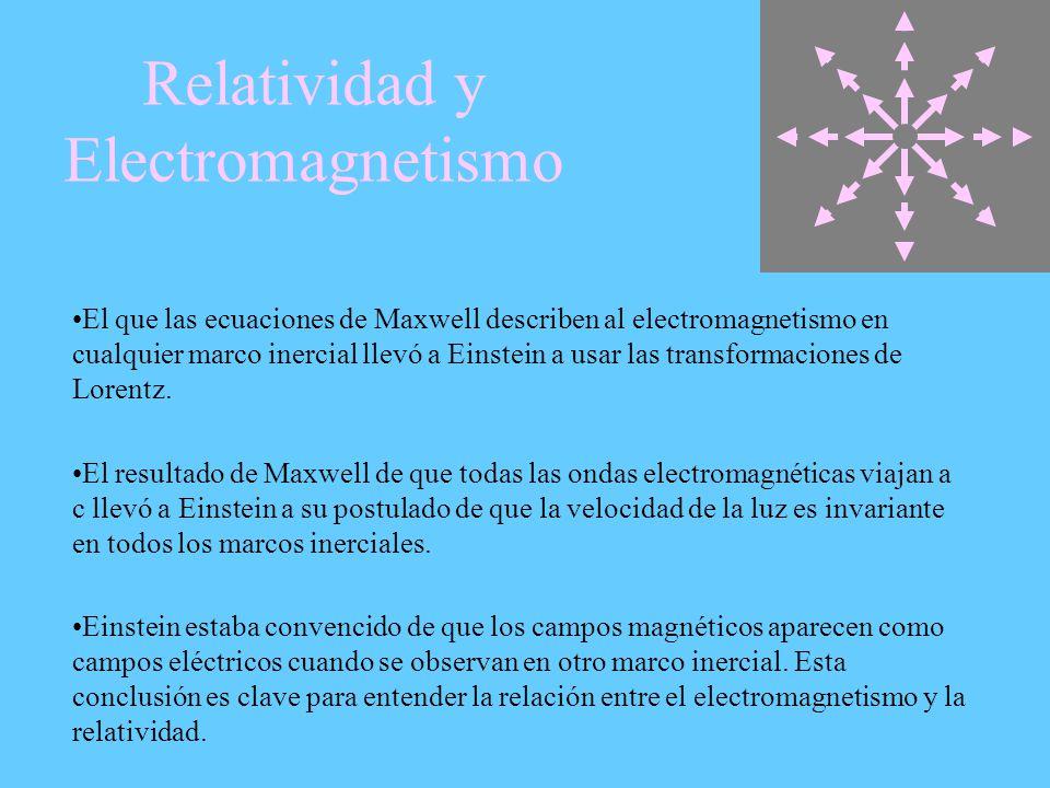 Relatividad y Electromagnetismo