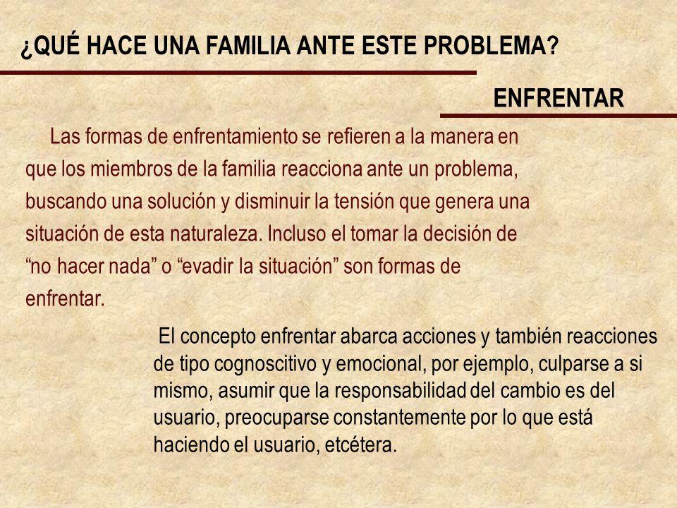 ¿QUÉ HACE UNA FAMILIA ANTE ESTE PROBLEMA