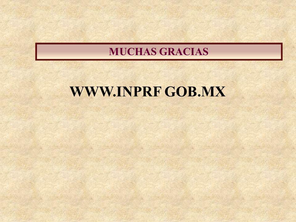 MUCHAS GRACIAS WWW.INPRF GOB.MX