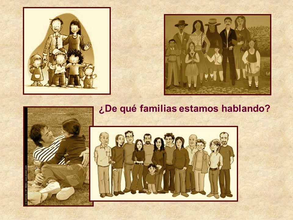 ¿De qué familias estamos hablando