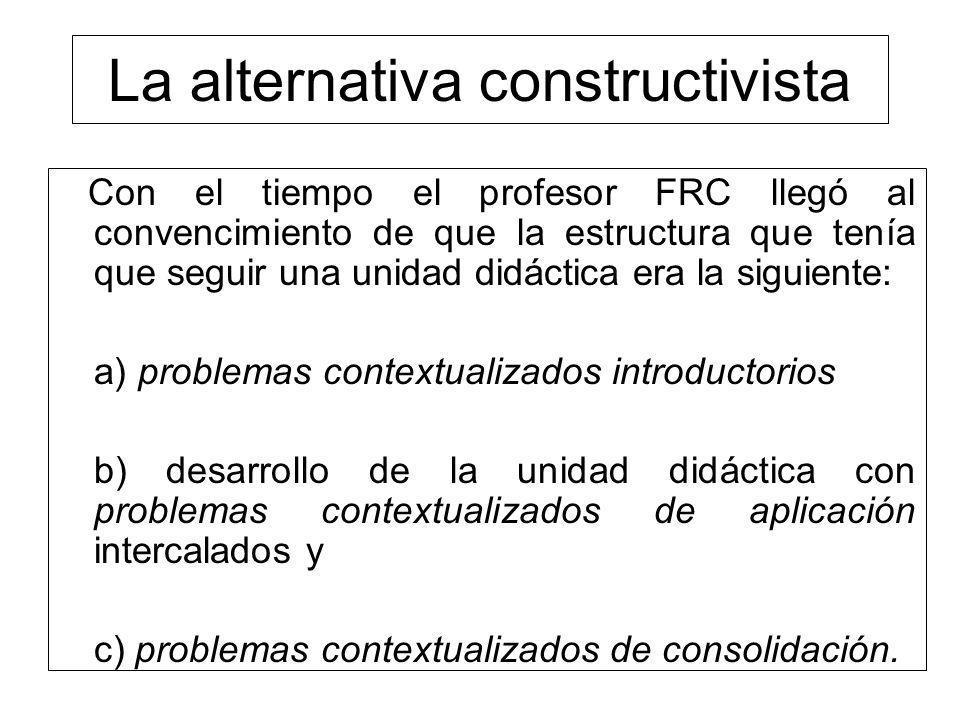 La alternativa constructivista