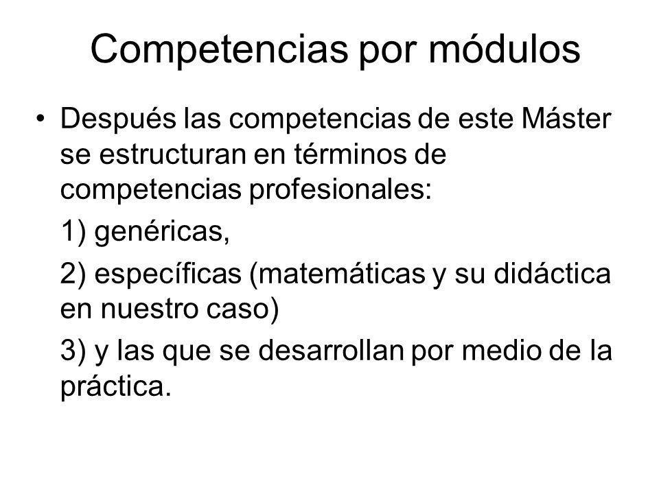 Competencias por módulos