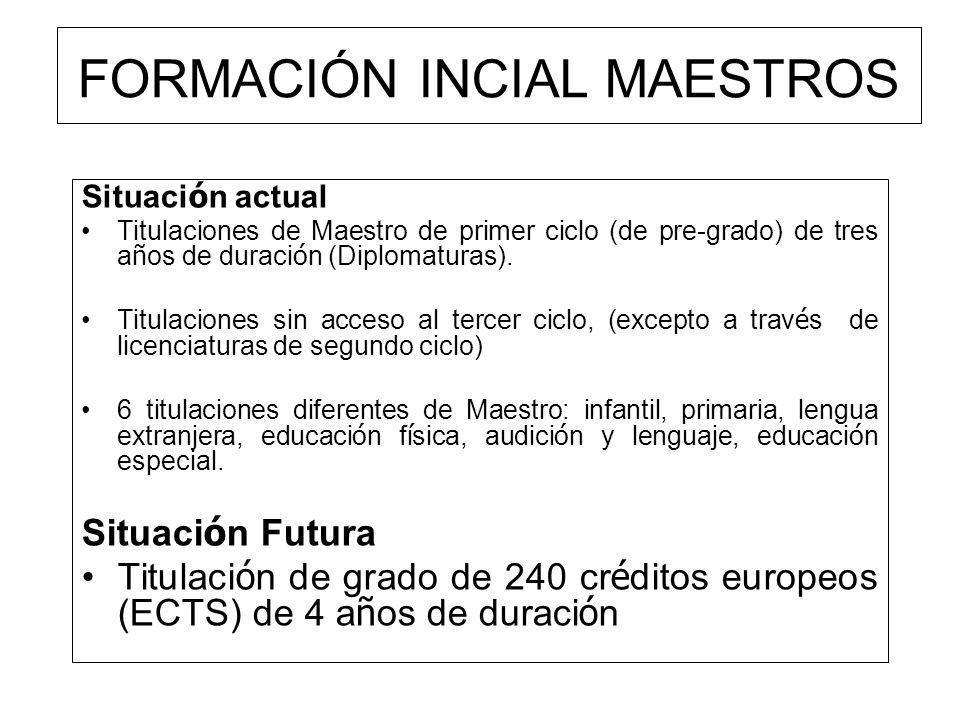 FORMACIÓN INCIAL MAESTROS