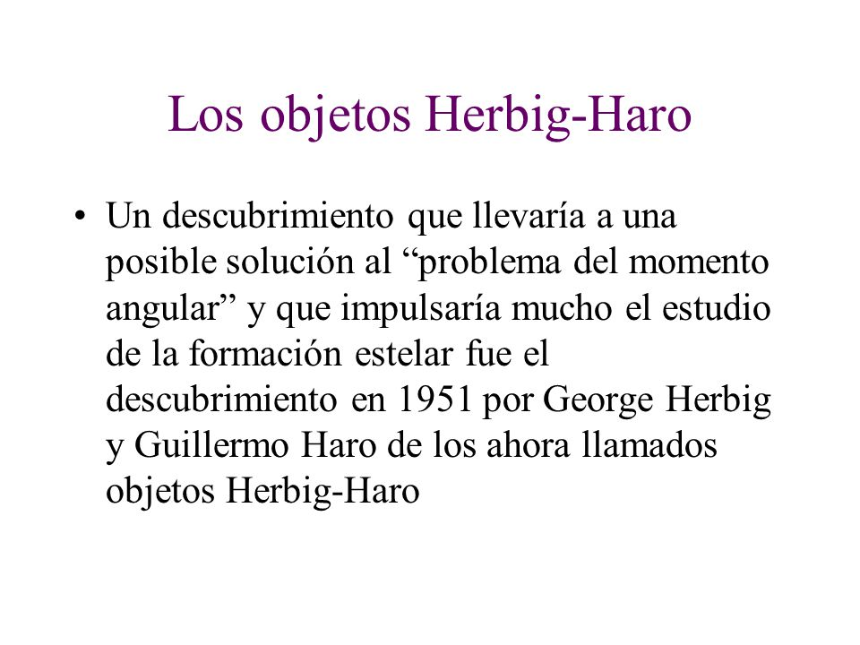 Los objetos Herbig-Haro