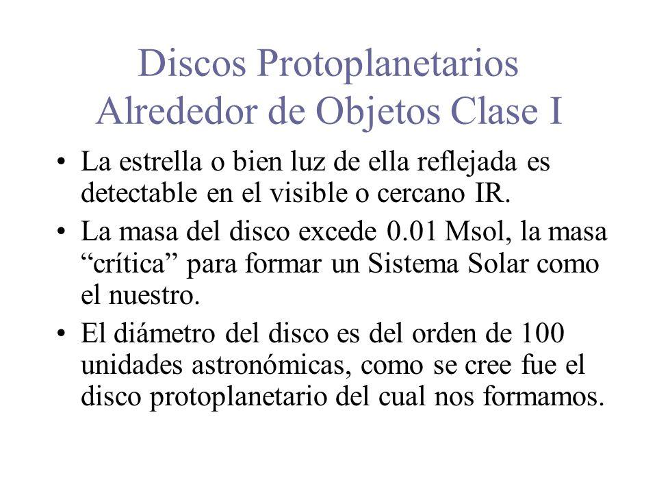 Discos Protoplanetarios Alrededor de Objetos Clase I