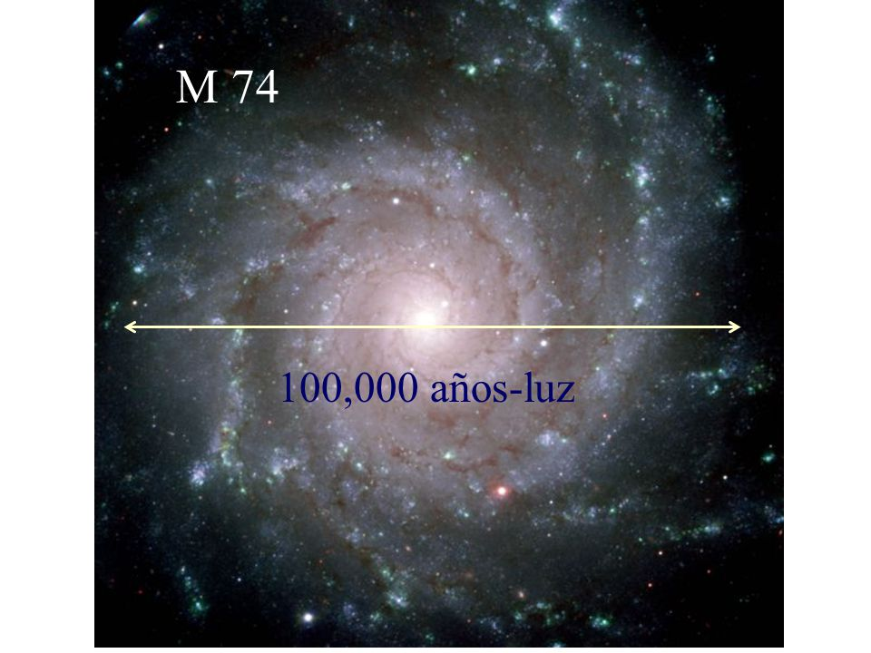 M 74 100,000 años-luz
