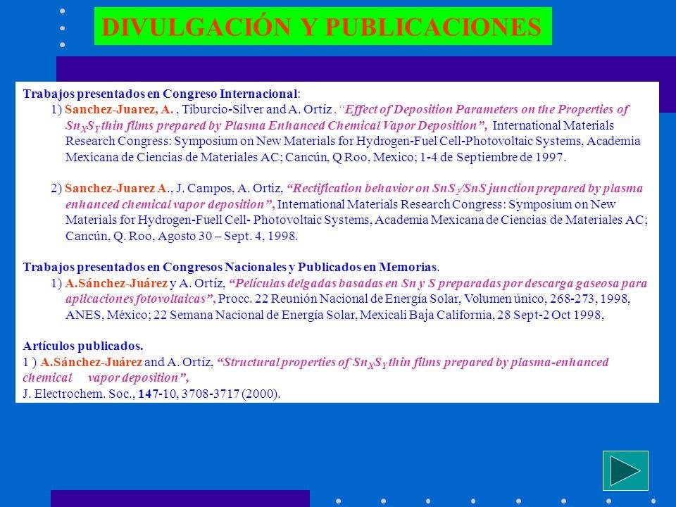 DIVULGACIÓN Y PUBLICACIONES