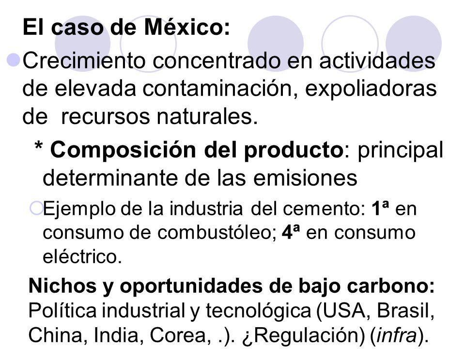 * Composición del producto: principal determinante de las emisiones