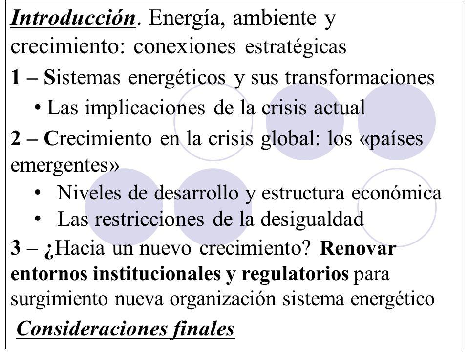 Introducción. Energía, ambiente y crecimiento: conexiones estratégicas