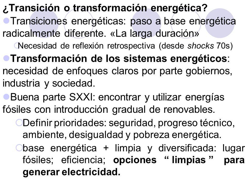 ¿Transición o transformación energética