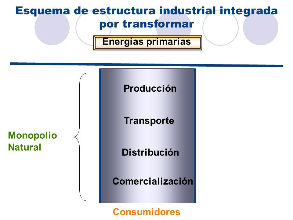 Esquema de estructura industrial integrada