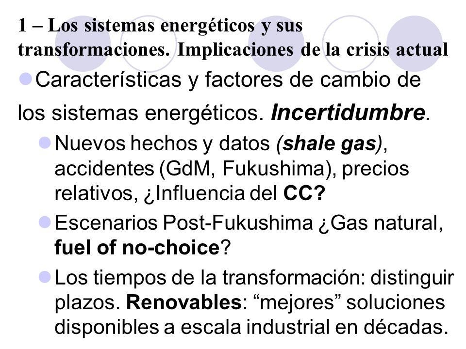 Características y factores de cambio de