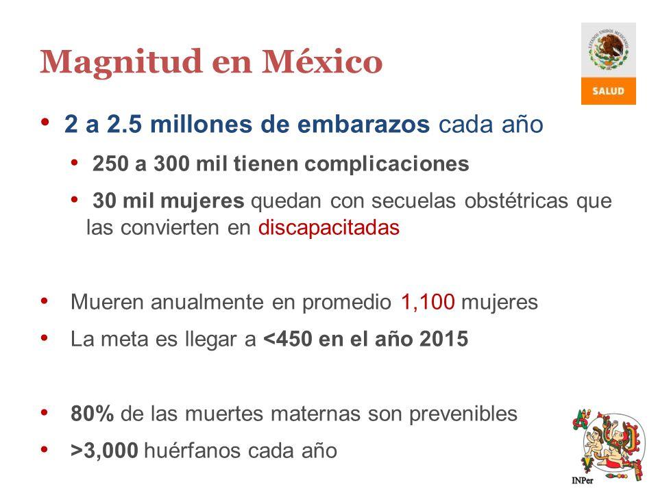 Magnitud en México 2 a 2.5 millones de embarazos cada año