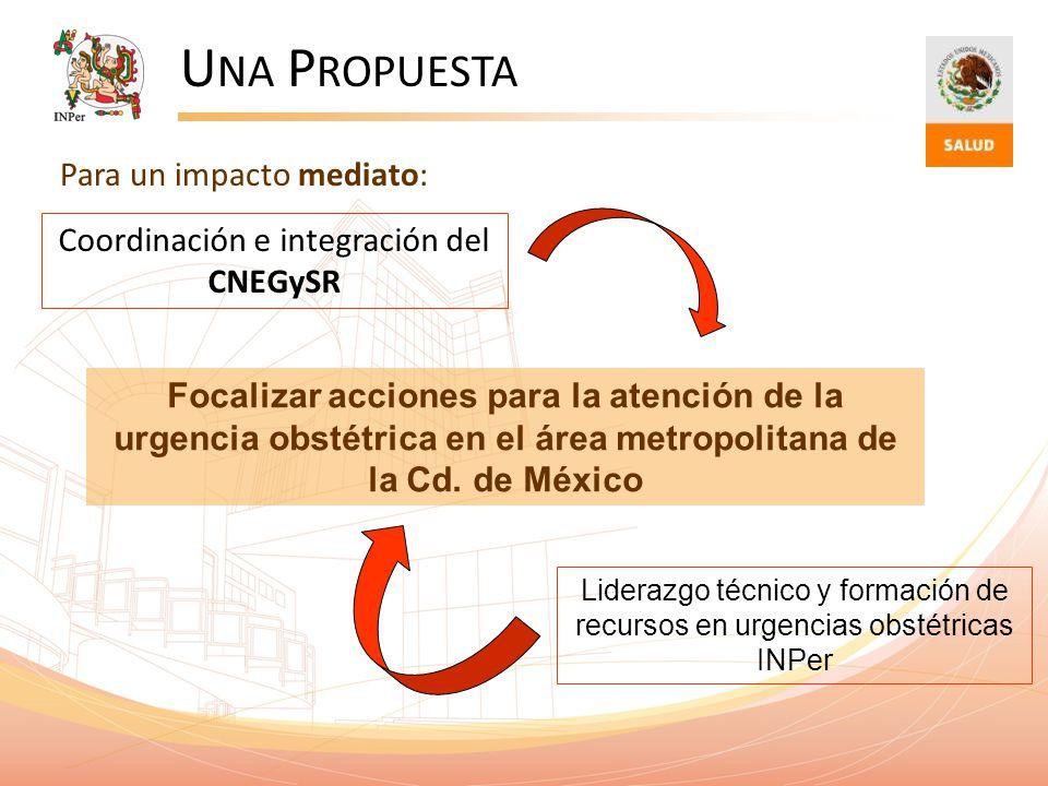 Una Propuesta Para un impacto mediato:
