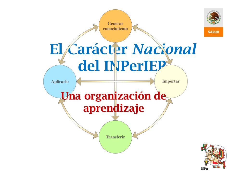 El Carácter Nacional del INPerIER Una organización de aprendizaje