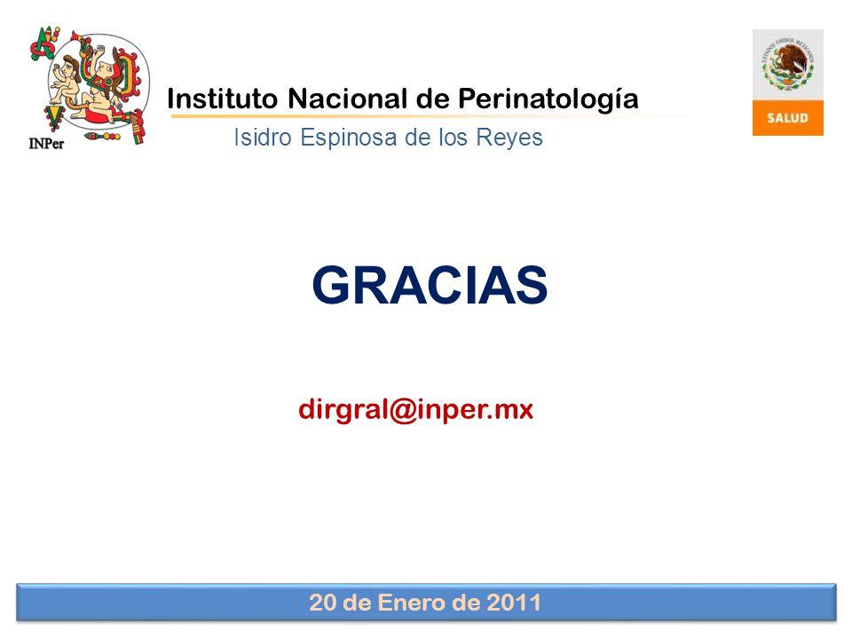 GRACIAS Instituto Nacional de Perinatología dirgral@inper.mx