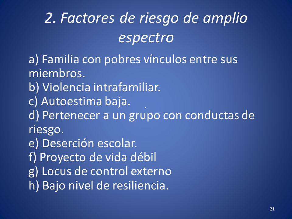2. Factores de riesgo de amplio espectro