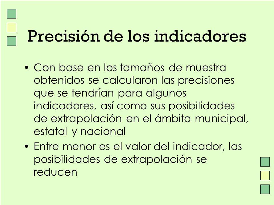 Precisión de los indicadores