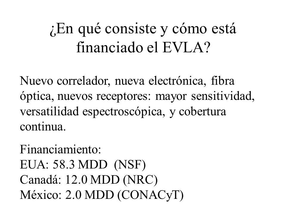 ¿En qué consiste y cómo está financiado el EVLA