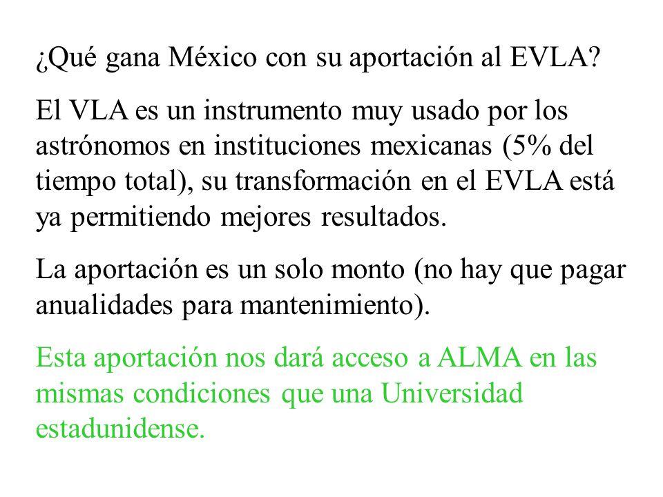 ¿Qué gana México con su aportación al EVLA