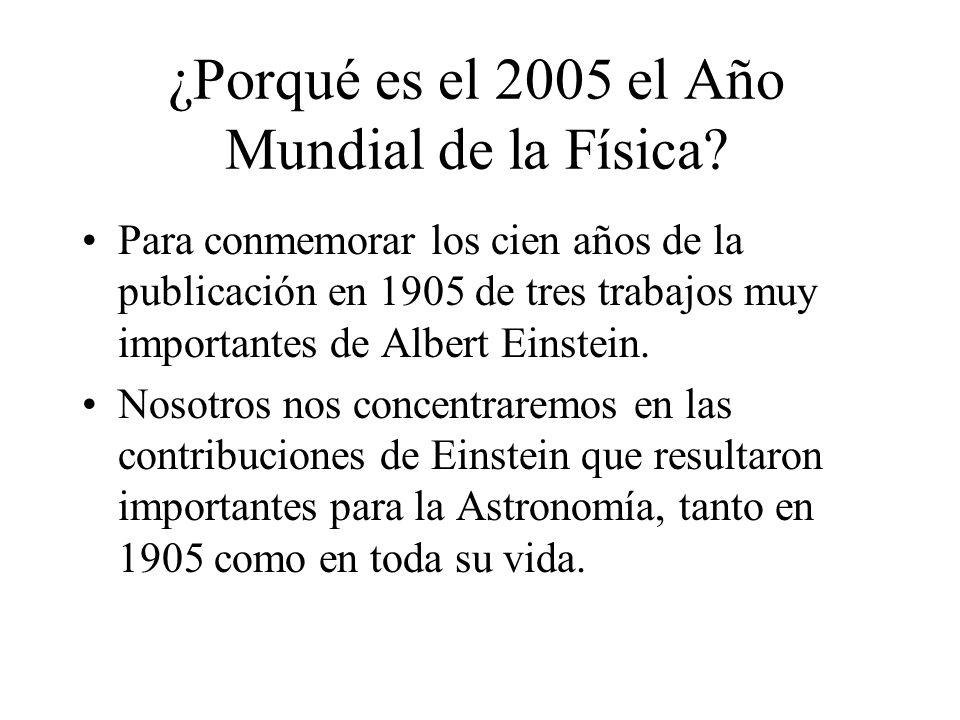 ¿Porqué es el 2005 el Año Mundial de la Física