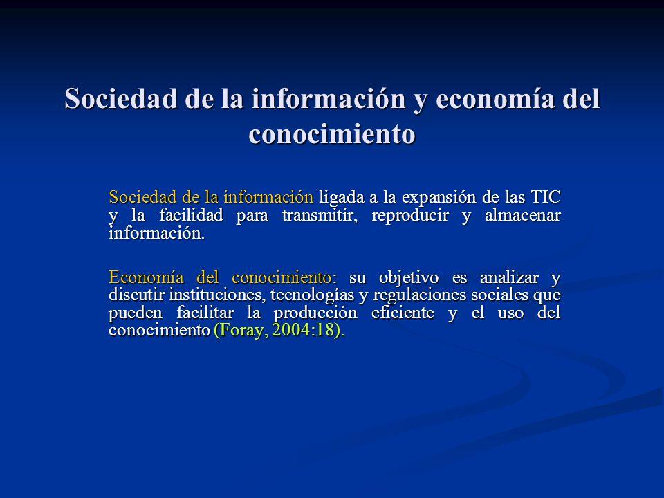 Sociedad de la información y economía del conocimiento