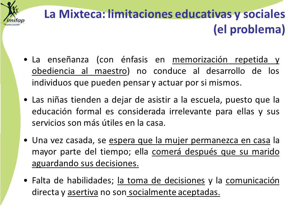 La Mixteca: limitaciones educativas y sociales (el problema)