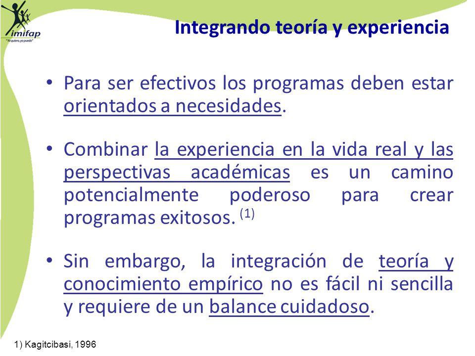 Integrando teoría y experiencia