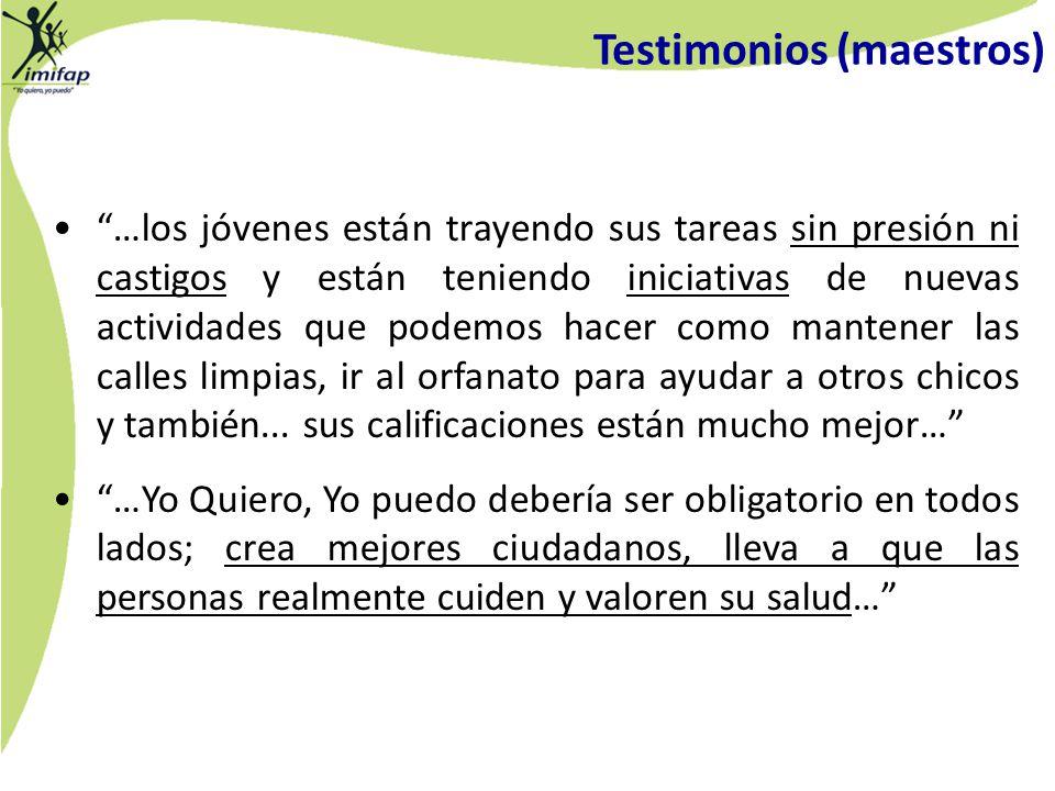 Testimonios (maestros)